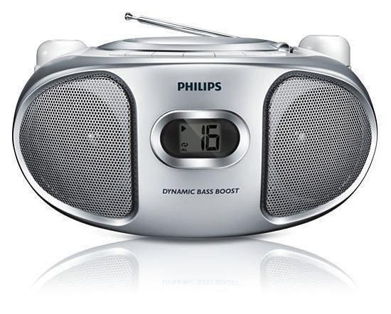 Εικόνα της Φορητό Ράδιο CD Philips AZ105S/12 Ασημί