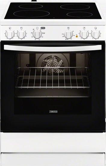 Εικόνα της Κουζίνα ZANUSSI ZCV65050WA Κεραμική  72 λίτρων με σταθερούς διακόπτες