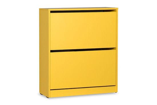 Εικόνα της Παπουτσοθήκη ανακλινόμενη Step 12 ζεύγων pakoworld σε χρώμα κίτρινο 73x26x84εκ