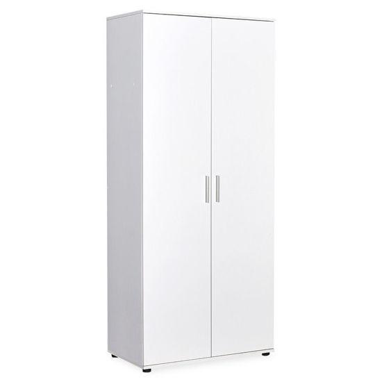 Εικόνα της Ντουλάπα ρούχων Trend pakoworld δίφυλλη χρώμα λευκό 80x47x187εκ