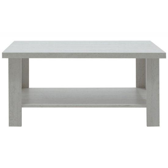 Εικόνα της Τραπέζι σαλονιού RIANO pakoworld χρώμα γκρι-λευκό 89,5x49,5x42,5εκ