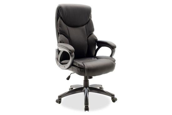 Εικόνα της Καρέκλα γραφείου διευθυντή Serena pakoworld με pu χρώμα μαύρο