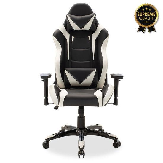 Εικόνα της Καρέκλα γραφείου Russell-Gaming SUPREME QUALITY pu μαύρο-λευκό
