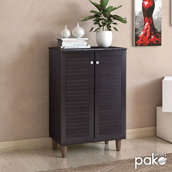 Εικόνα της Παπουτσοθήκη-ντουλάπι SANTO pakoworld 10 ζεύγων χρώμα wenge 60x34,5x91,5εκ